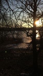 Sonnenuntergang am Mittelteich-Bad