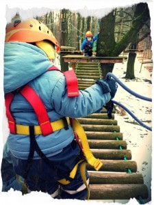 Kinderparcours im Winter