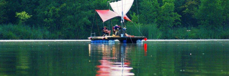 Floßbau und Wasserrallye