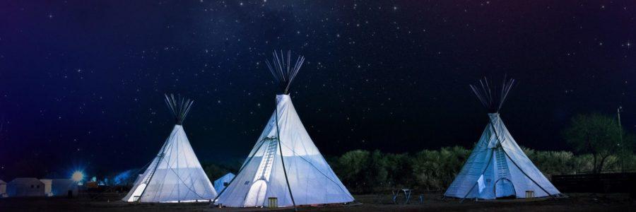 Übernachten wie bei den Indianern