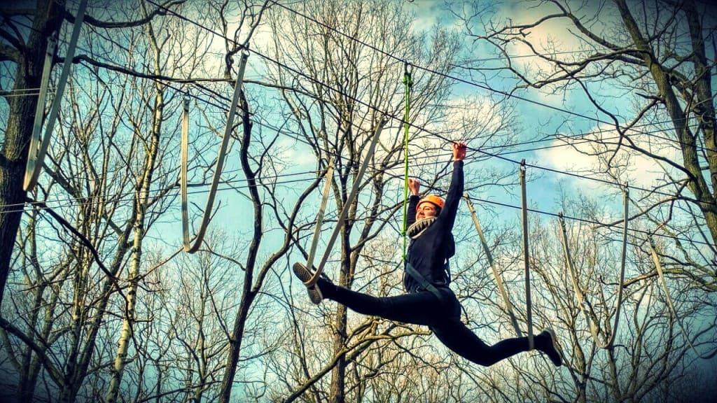 5-m-Parcours im Hochseilgarten Moritzburg: Eine sportliche Herausforderung mit 18 Elementen