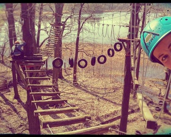 Klettern in den Baumwipfeln: Gehen Sie 10m in die Höhe