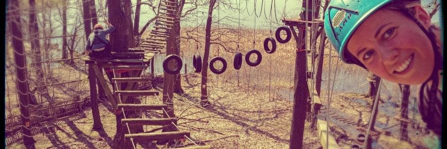 Klettern in den Baumwipfel: Gehen Sie 10m in die Höhe